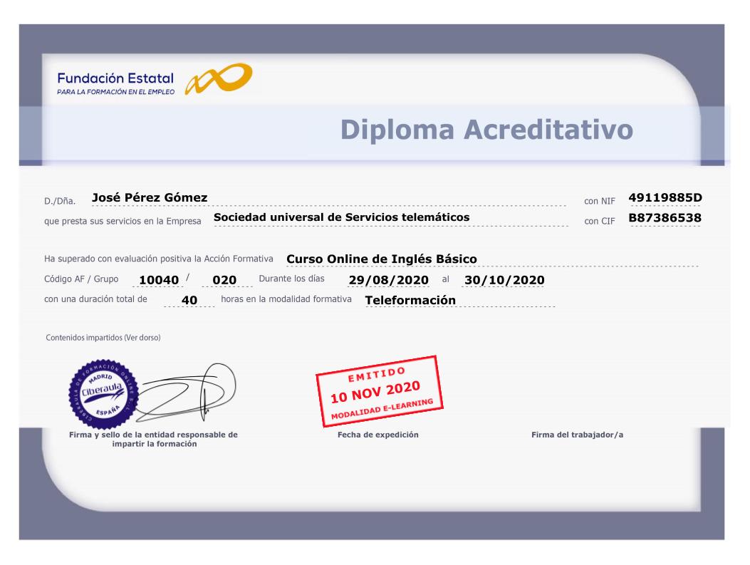 Diploma Acreditativo