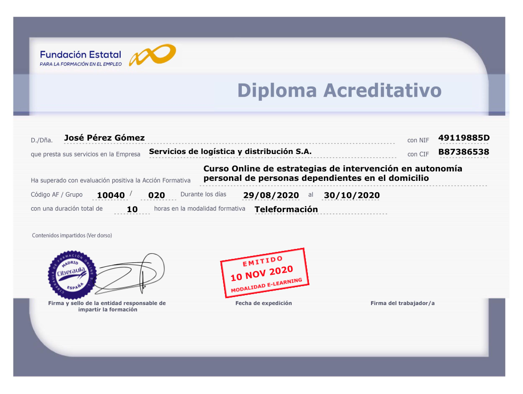 Diploma Acreditativo Wordpress