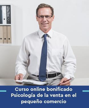 Curso online bonificado Psicología de la venta en el pequeño comercio