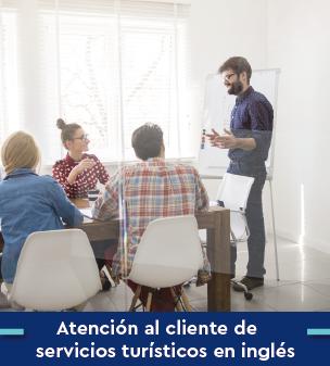 Cursos online Bonificados de Atención al cliente de servicios turísticos en inglés