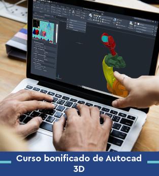 Curso online bonificado Autocad 3d